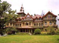 天津私人别墅设计之户外木平台花园